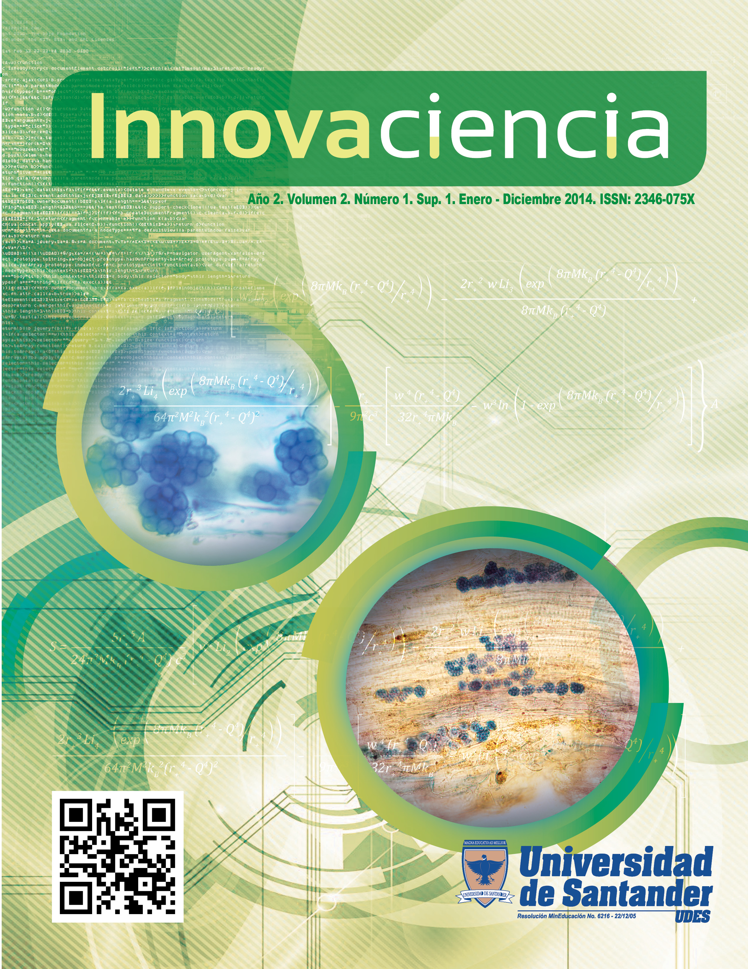 Portada revista Innovaciencia Volúmen 2 1 S1 (2014)